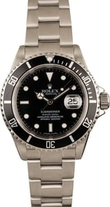 Pre-Owned Rolex Submariner 16610 Stainless Steel Watch