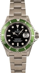 Pre-Owned Rolex 40MM Submariner 16610V 'Flat Four Kermit'