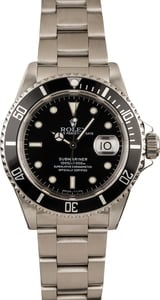 Pre-Owned Rolex 40MM Submariner 16610 Black Dial