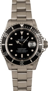 Pre-Owned 40MM Rolex Submariner 16610 Black Insert