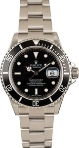 Used 40MM Rolex 16610 Submariner Black Dial