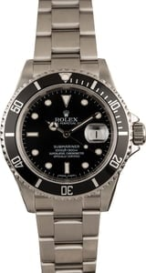 Pre-Owned Rolex 40MM Submariner 16610 Black Insert