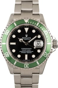 Pre-Owned Rolex Submariner Green Anniversary 16610LV