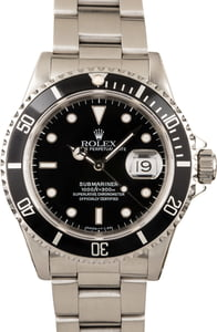 Rolex 16610BKSO Submariner Black Dial