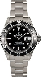 Certified Pre-Owned Rolex Submariner 16610T