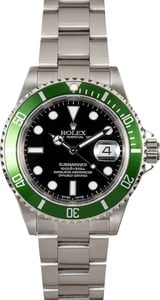 Rolex Submariner Green Anniversary 16610T