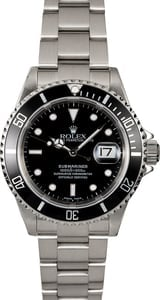 Black Dial Rolex Submariner 16610T Steel Oyster
