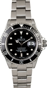 Rolex Submariner 16610T Serial Engraved Rehaut