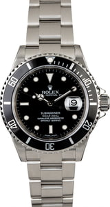 Certified Rolex Submariner 16610T Diver's Timing Bezel