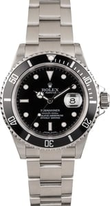 Used Rolex Submariner 16610T Black Dial