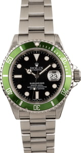 Pre-Owned Rolex Submariner 16610T 'Kermit' Green Anniversary Bezel