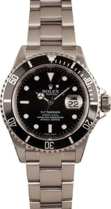 Used Rolex Submariner 16610T Black Dial Men's Watch