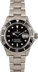 Used Rolex Submariner 16610T No Holes Case