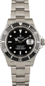 Pre Owned Rolex Submariner 16610T Black Dial