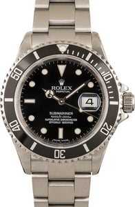 Rolex Submariner 16610T Black 100% Authentic