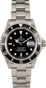 Rolex Submariner 16610T Serial Engraved