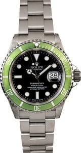 Pre-Owned Rolex Submariner 16610V Kermit Anniversary