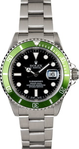 Men's Rolex Submariner 16610V Flat Four Kermit