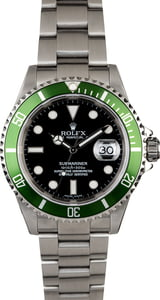 Rolex Submariner 16610V Flat Four Kermit