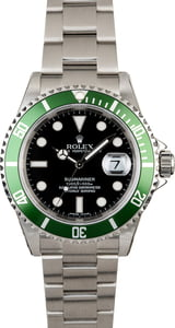 Rolex Submariner 16610V Kermit with Factory Stickers
