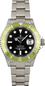 Used Rolex Submariner 16610V Green 'Kermit' Bezel