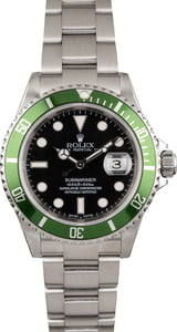 Used Rolex Submariner 16610V Flat Four 'Kermit' Insert