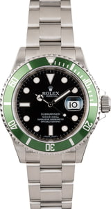 Used Rolex Submariner 16610V Green Anniversary Bezel