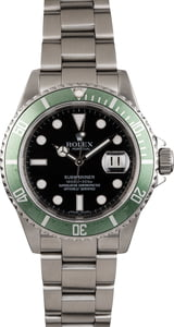 Rolex Submariner 16610V Serial Engraved Steel 'Kermit'