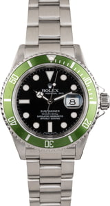 PreOwned Rolex Steel Submariner 16610V 'Kermit'