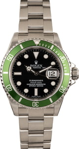 Pre-Owned Rolex Submariner 16610V Flat Four 'Kermit'