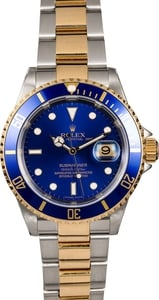 Rolex Submariner 16613 Blue Men's Watch TT