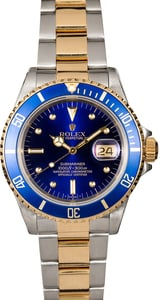 Rolex Submariner 16613 Two Tone Oyster Certified PreOwned