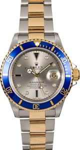 Rolex Serti Submariner 16613 Diamonds and Sapphires