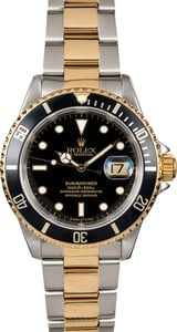 Black Dial Rolex Submariner 16613 Two-Tone Oyster
