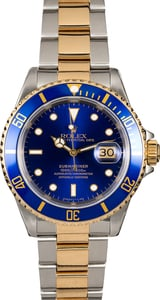 Rolex Submariner 16613 Blue Dial Pre-Owned Watch