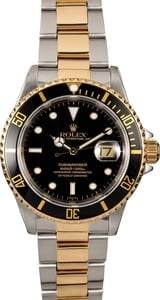 Rolex Submariner 16613 Black Dial Two Tone Oyster Band