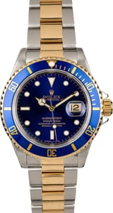 Rolex Submariner 16613 Blue Two Tone Men's Watch