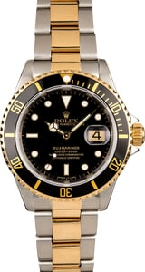 Pre-Owned Rolex Submariner 16613 Two-Tone Oyster