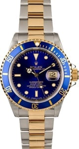 Rolex Submariner 16613 Blue Dial with Two Tone Oyster