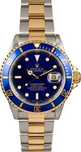 Rolex Submariner 16613 Blue Dial Pre-Owned Men's Watch