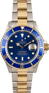 Rolex Submariner 16613 Blue Luminescent Dial