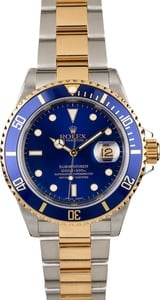 Rolex Submariner 16613 Blue Dial Two Tone Oyster