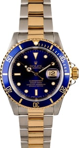 Rolex Submariner 16613 Blue Dial Two Tone