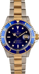 Blue Dial Rolex Submariner 16613 Two Tone Oyster