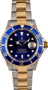 Certified Rolex Submariner 16613 Blue Two Tone
