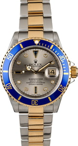 Rolex Submariner 16613 Slate Serti Men's Watch