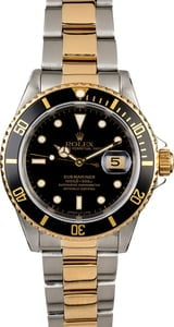 Certified PreOwned Rolex Submariner 16613 Men's Watch