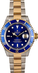 Rolex Submariner 16613 Two Tone Oyster Blue Dial