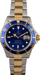 Used Rolex Submariner 16613 Two Tone Oyster