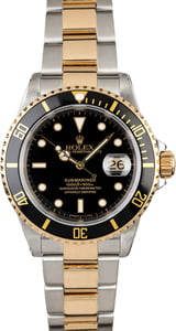 Rolex Submariner 16613 Two Tone Oyster with Gold-Thru Clasp